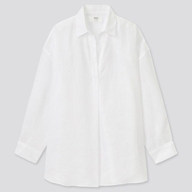 プレミアムリネンスキッパーシャツ(7分袖)