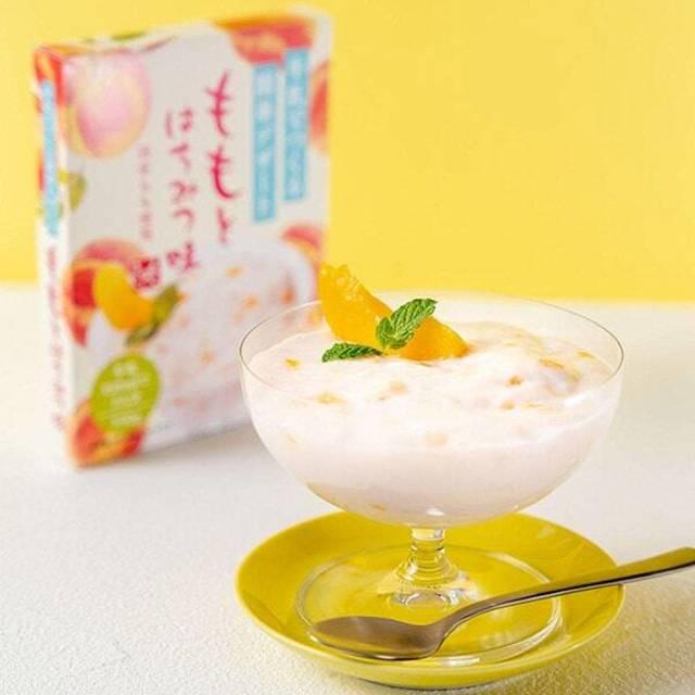 牛乳でつくる簡単デザート ももとはちみつ味