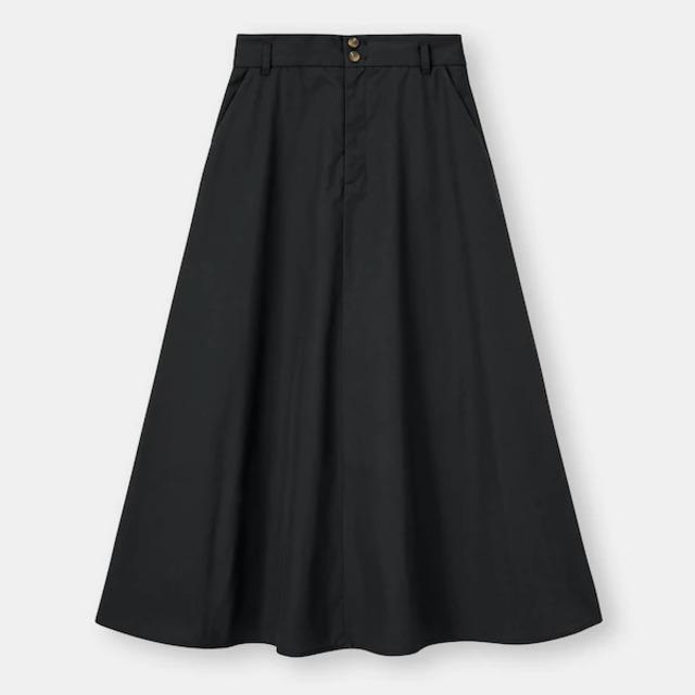 コットンブレンドAラインスカート