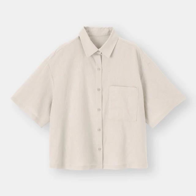 リネンブレンドオーバーサイズシャツ(5分袖)