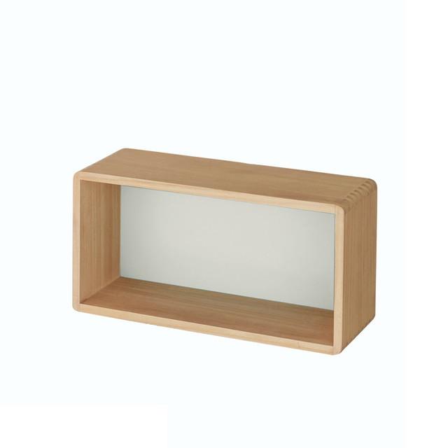 """角が丸い設置簡単壁掛けボックス""""WALL FREE"""" 「ホワイト」45(幅(cm))"""