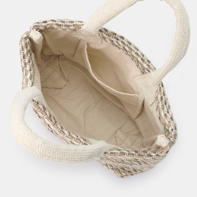 インドの手織りミニトートバッグ