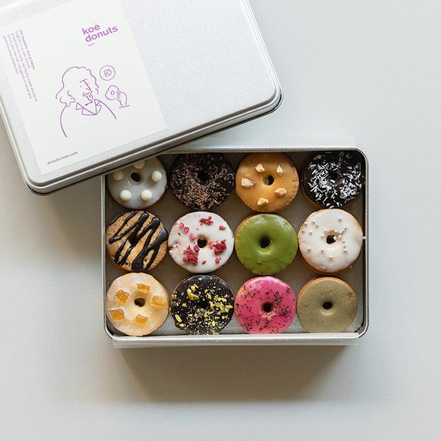 koe donutsクッキー缶
