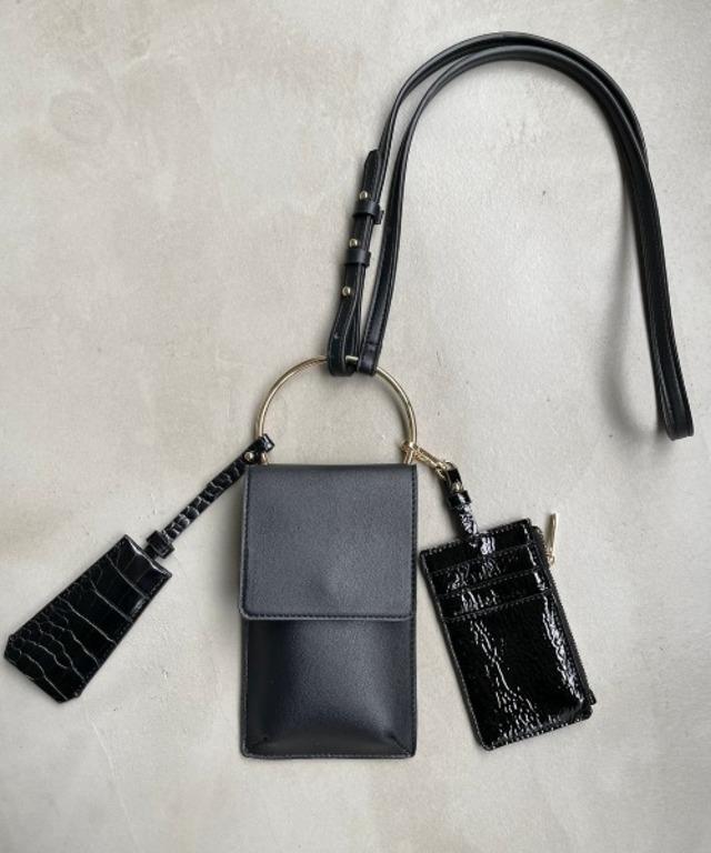 モバイルケースパスケース定期入れキーケース組み合わせショルダーバッグ
