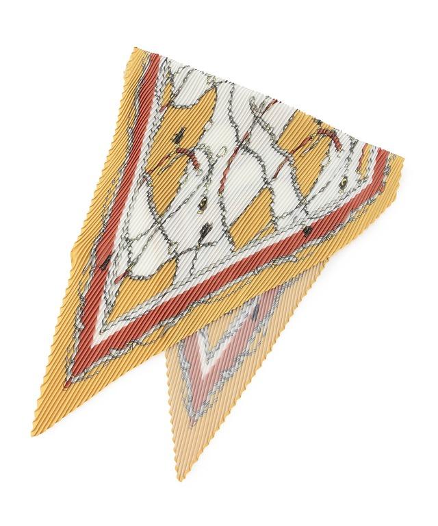 ベルトプリントプリーツスカーフ
