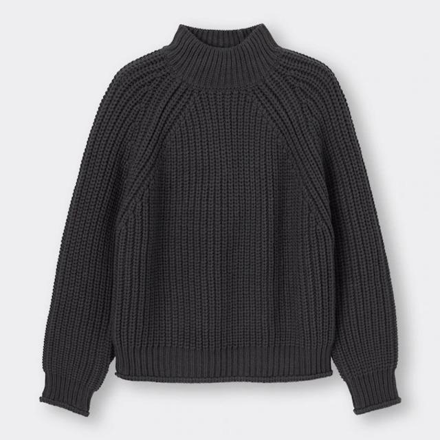 チャンキーニットハイネックセーター