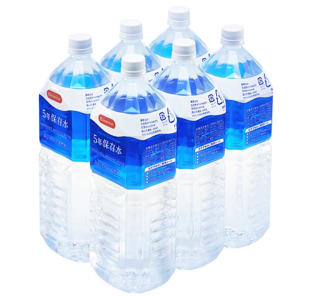 5年保存水 2リットル×6本入