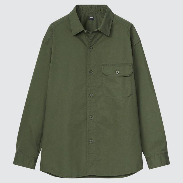 ストレッチツイルオーバーサイズシャツ(長袖)