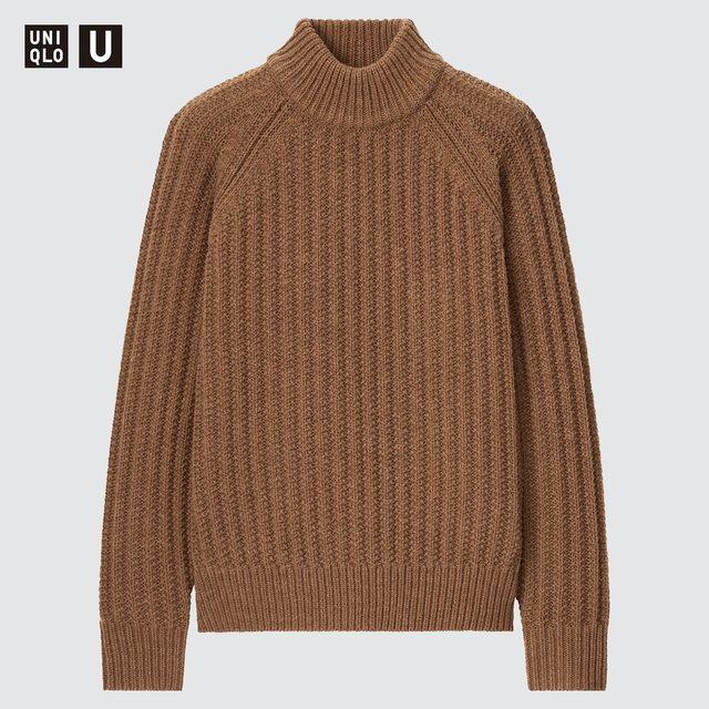 ローゲージ モックネックセーター