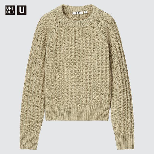 ローゲージクルーネックセーター