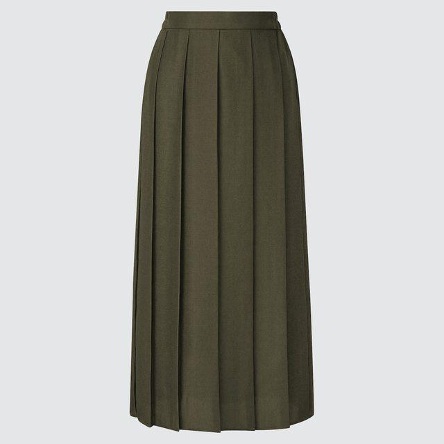 ワイドプリーツスカート(丈標準81~85cm)