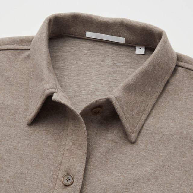 ブラッシュド ジャージーシャツジャケット