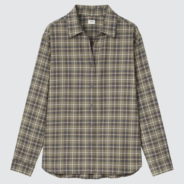 ライトフランネルチェックシャツ(長袖)