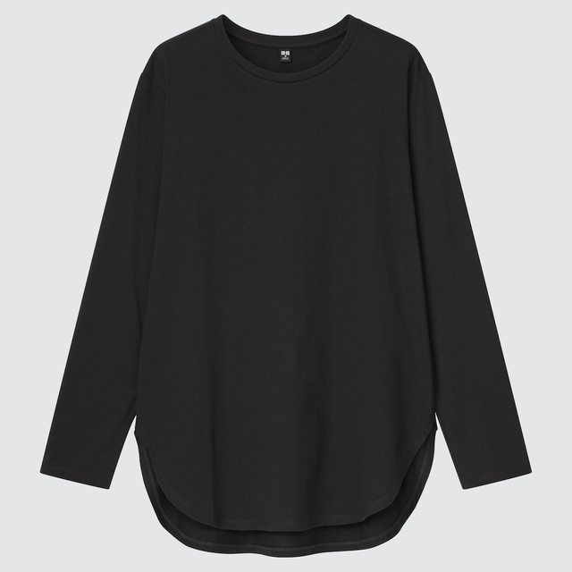 スムースコットンシャツテールT(長袖)