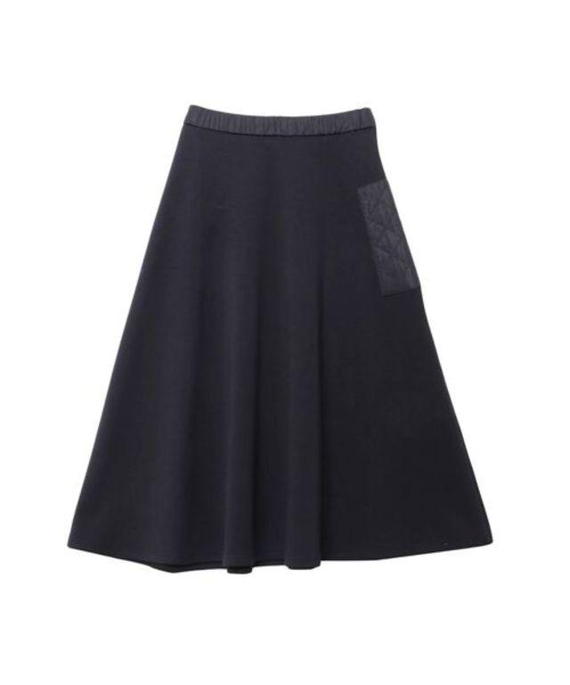 キルティングポケットフレアースカート