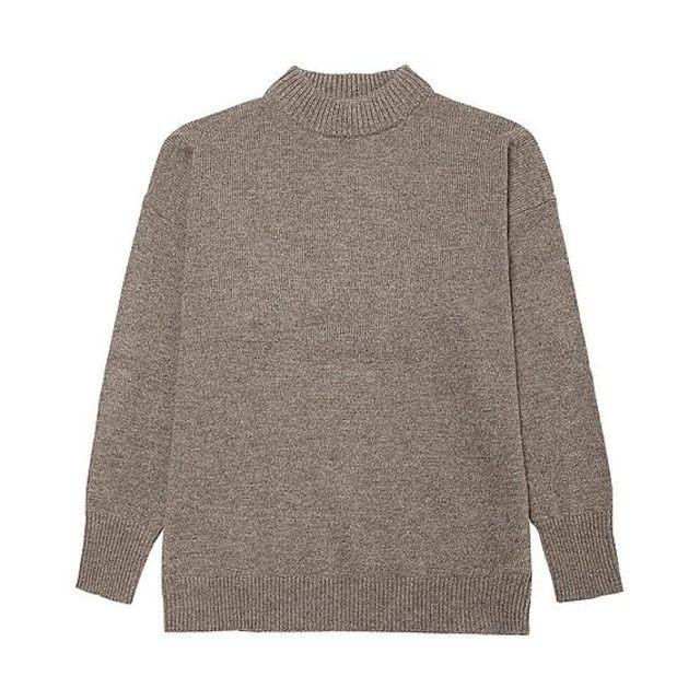ラムブレンドオーバーサイズハイセーター(長袖)