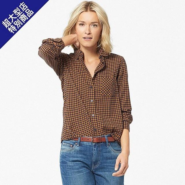 フランネルチェックシャツ(長袖)