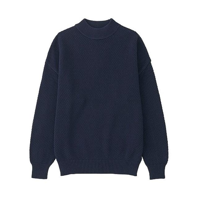 コットンオーバーサイズハイネックセーター