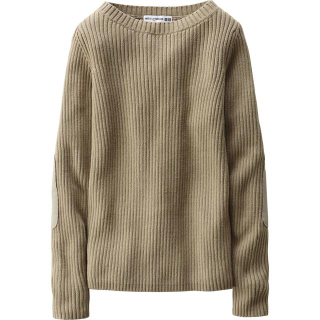 リブボートネックセーター(長袖)+