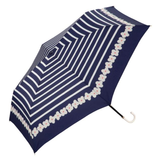 w.p.cボーダーフラワーmini 折りたたみ日傘
