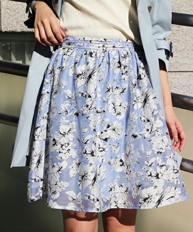 【FREE'S MART】 オパール花柄ギャザースカート