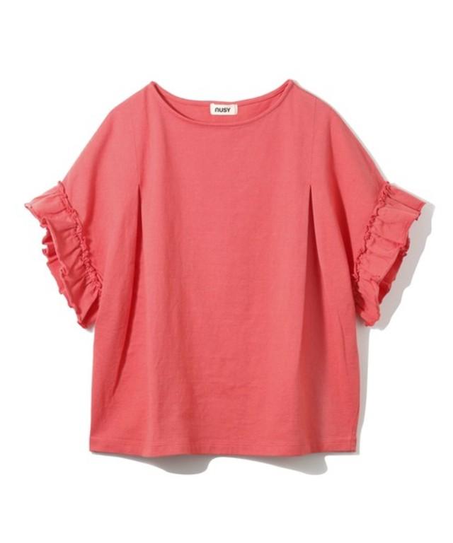 オーガニックコットンフリルTシャツ