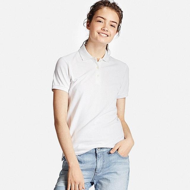 WOMEN ストレッチカノコポロシャツ(半袖)