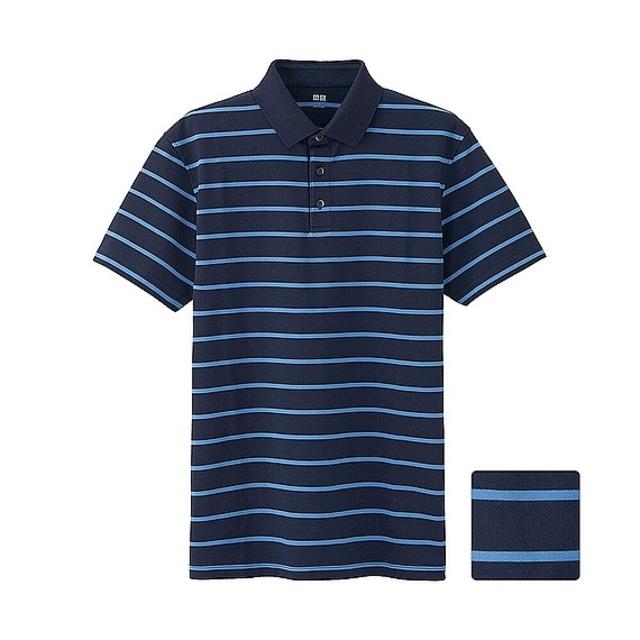 MEN ドライカノコボーダーポロシャツ(レギュラー・半袖)