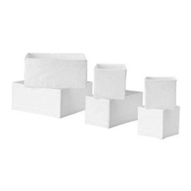 SKUBB ボックス6点セット(ホワイト)