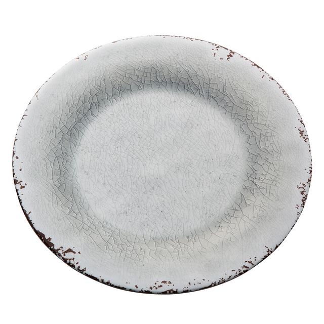 陶器風メラミンプレート 27cm グレー