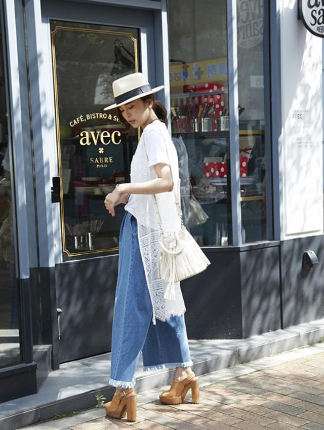 【Lace long gown】レディース レース ジレ