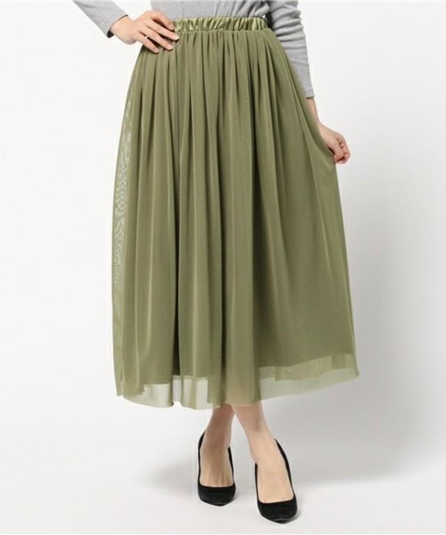 UNRELISH チュールロングスカート