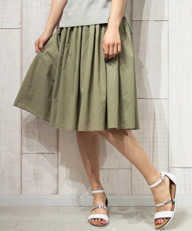 UNRELISH ギャザーローンスカート