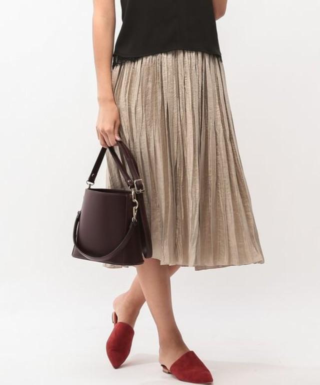 ROPE' mademoiselle ラメランダムプリーツスカート