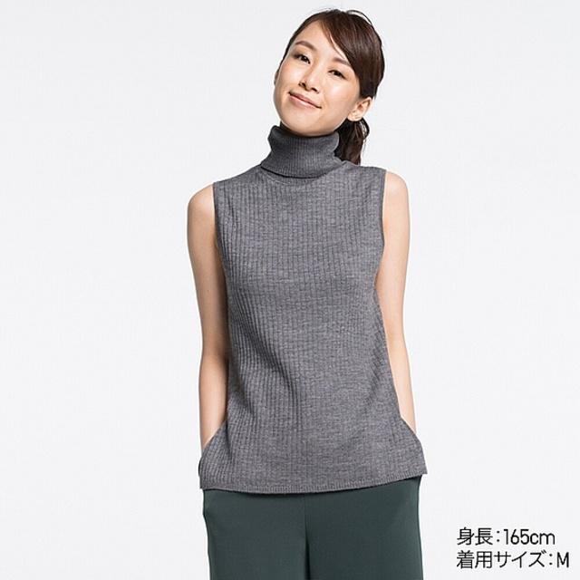 メリノブレンドリブタートルネックセーター(5色)
