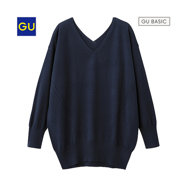 GU ウールブレンドチュニック(長袖)