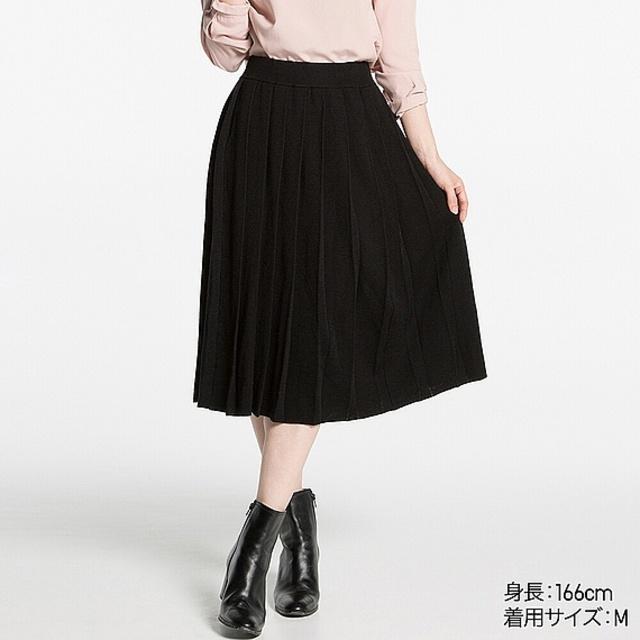 WOMEN メリノブレンドプリーツスカート