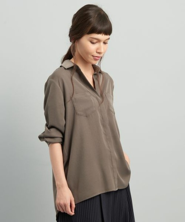ViS 【ヒルナンデス!放映】ポケット付きバックシャンシャツ