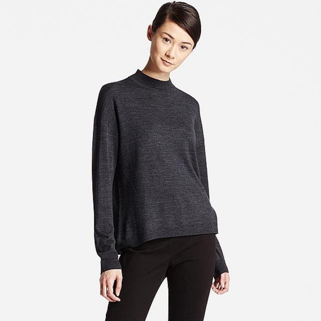 WOMEN エクストラファインメリノハイネックセーター(長袖)