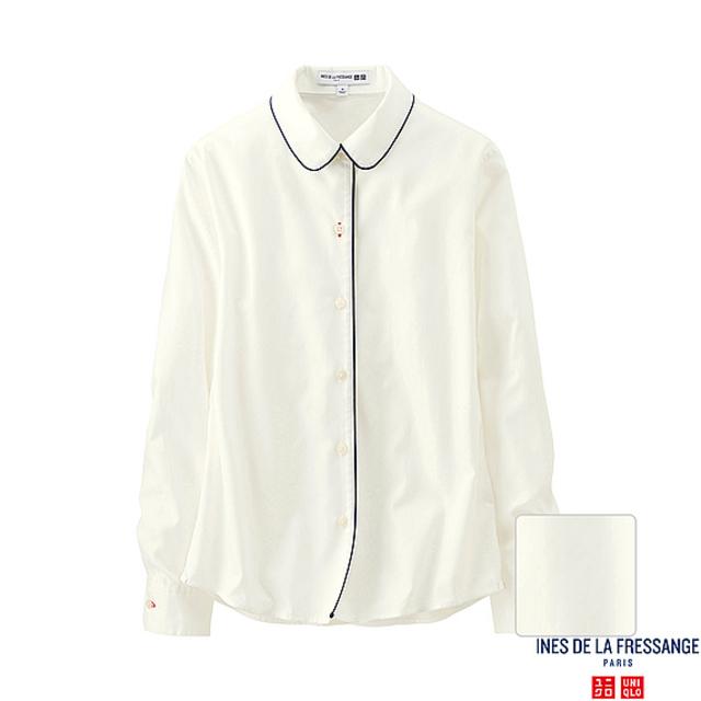 WOMEN パイピングカラーシャツ(長袖)+