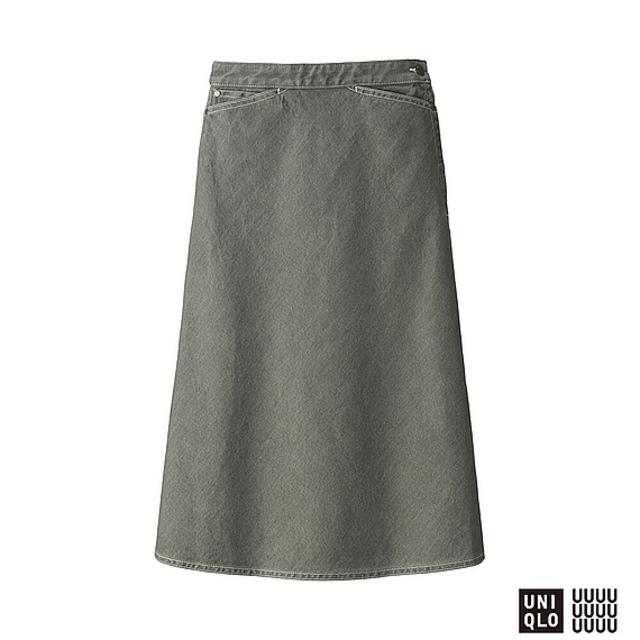 WOMEN デニムフレアスカート+E