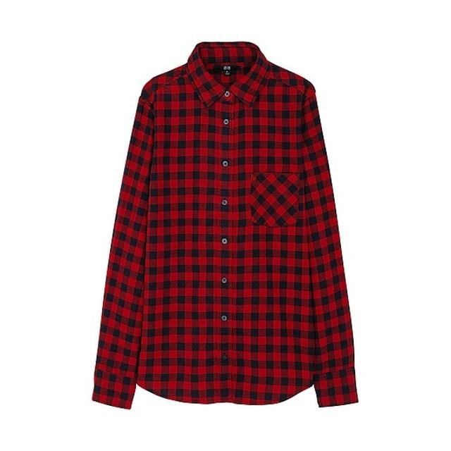 WOMEN フランネルチェックシャツ