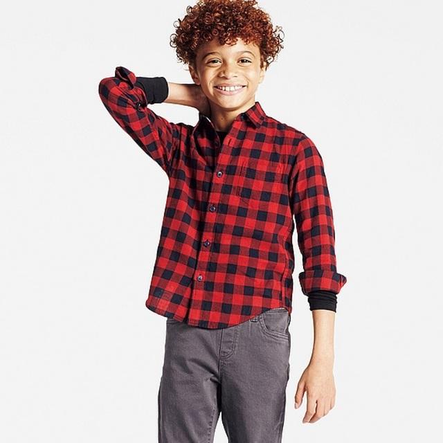 BOYS フランネルチェックシャツ