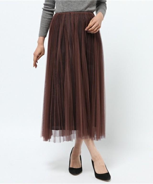 SpRay チュールマキシスカート