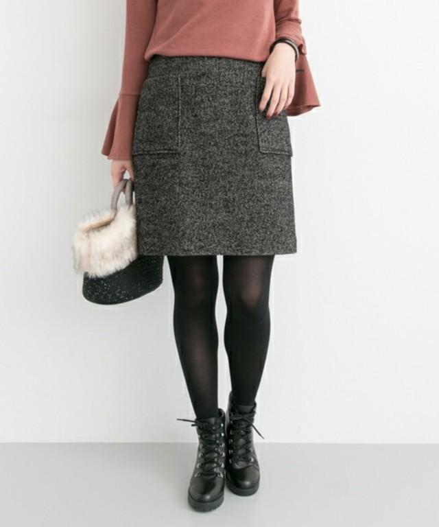 URBAN RESEARCH UR フロントポケット台形スカート