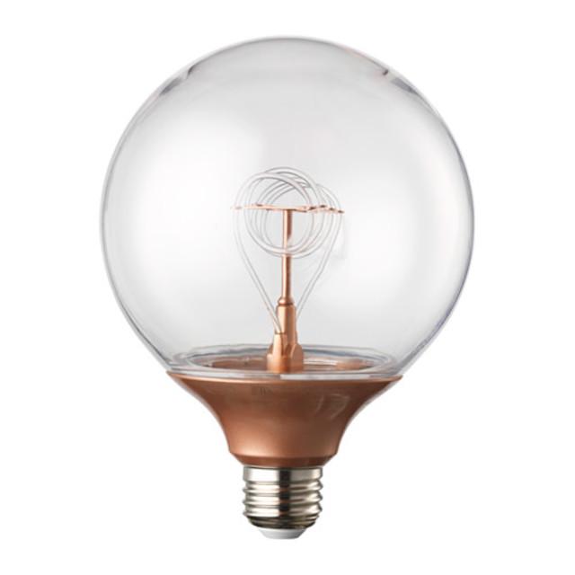 NITTIO LED電球 E26 20ルーメン, 球形 コッパーカラー