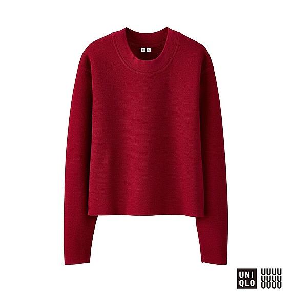 ミラノリブクルーネックセーター