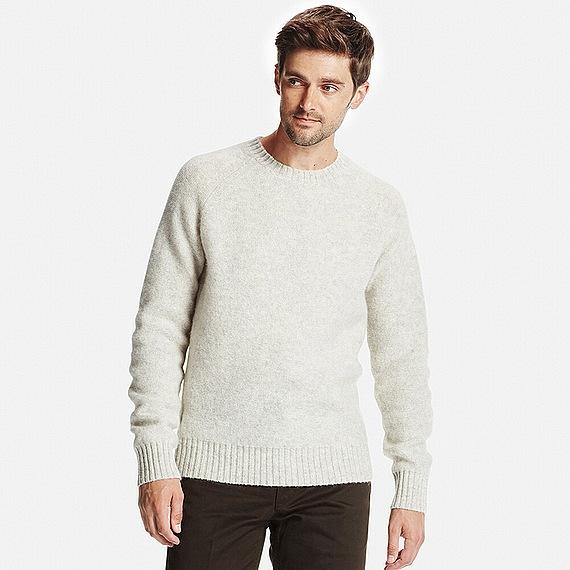 MEN ボイルドウールクルーネックセーター
