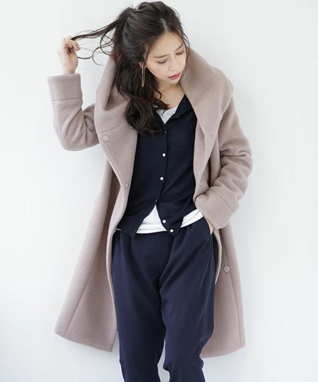 【WEB限定カラー】 変形衿コート
