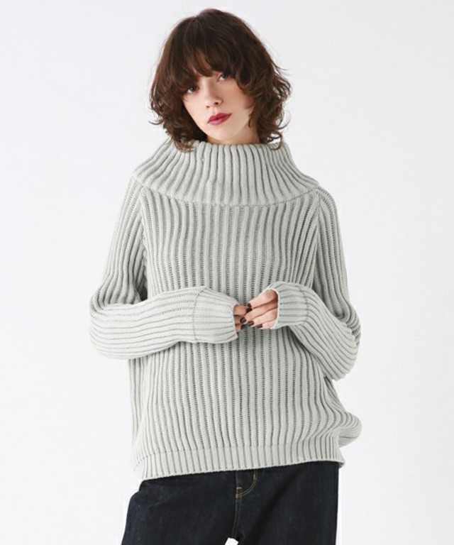 BLACK BY MOUSSY Big turtleneck knit